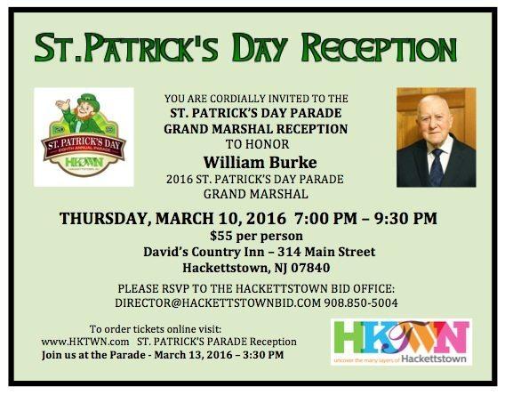 St. Patrick's Grand Marshal Reception