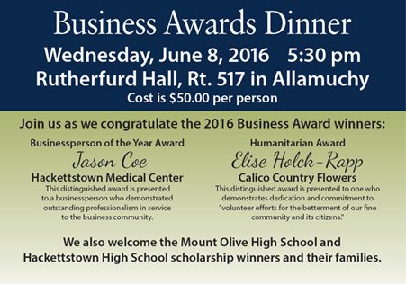 Mt. Olive Chamber Honors HMC's Coe, Calico's Holck-Rapp