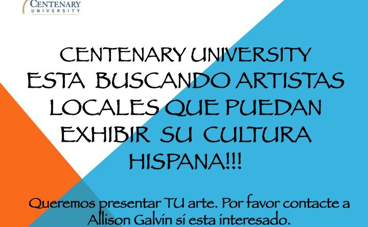 Centenary University Seeks Local Artists with Hispanic Influences