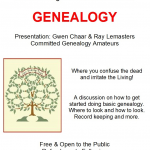 Historical Society Genealogy Presentation