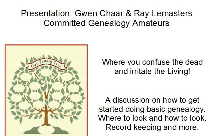 Historical Society Genealogy Presentation